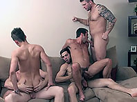 gay orgy with Mike De Marko