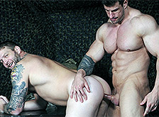 Muscle cock Zeb Atlas is fucking porn star Colby Jansen