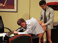 Rocco Reed fucking at the Gay Office