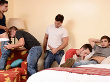 Five hot gay porn guys