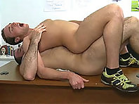 coach riding his cock